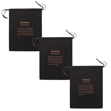 MYTAGALONGS Definitions Set Of 3 Drawstring Bags