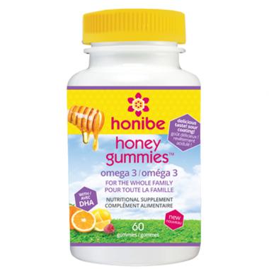 Honibe Honey Gummies Omega 3 with DHA