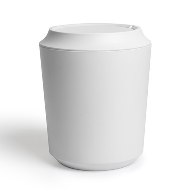 Umbra Corsa Waste Can With Lid White