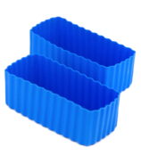 Little Lunch Box Co. Bento Cups Rectangle Blue