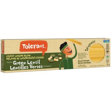 Tolerant Organic Green Lentil Spaghetti Pasta