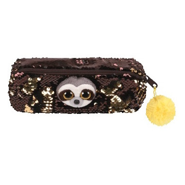 Ty Flippables Dangler the Sloth Sequin Pencil Bag