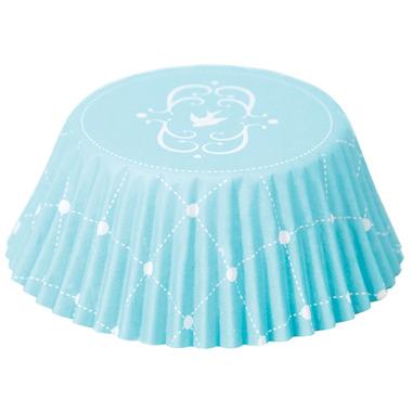 Elegant Blue Foil Lined Bake Cups