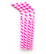GreenPaxx Silicone Reusable Straws Pink Stripes