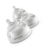 Nanobebe Breast Milk Bottle 3 Pack Grey