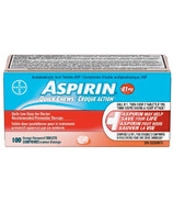 Aspirin 81mg Quick Chews Daily Low Dose Orange Flavour Large Bottle