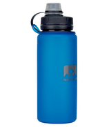 Nathan Sports Flexshot Silicone Water Bottle Electric Blue