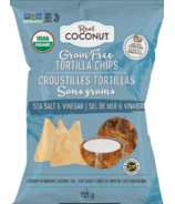 The Real Coconut Grain Free Tortilla Chips Sea Salt & Vinegar