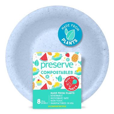 Preserve Compostables Bowls Blue