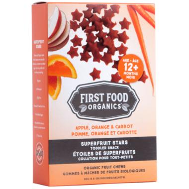 First Food Organics Apple Orange Carrot Superfruit Stars