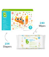 babyganics Size 3 Diaper + Fragrance Free Wipes Bundle