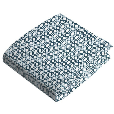 Kushies Flannel Fitted Crib Sheet Octagon Navy