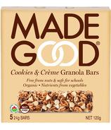 MadeGood Cookies & Creme Granola Bars