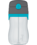 Foogo Tritan Leak Proof Straw Bottle Teal & Smoke