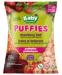 Baby Gourmet Puffies Probiotics Strawberry Beet Quinoa Puff Snacks