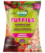 Baby Gourmet Friandises soufflés probiotiques Puffies avec fraise, betterave et quinoa
