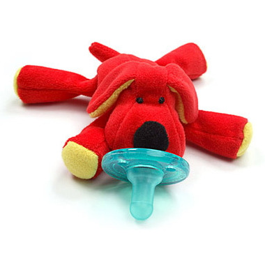 WubbaNub Red Dog Plush Pacifier