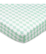 Lolli Living Fitted Sheet Kayden Sea Glass Green Scallops