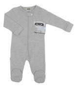 Kushies Front Zip Sleeper Heather Light Grey