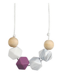 Glitter & Spice Silicone Teething Necklace Gaia