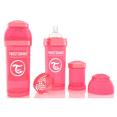 Twistshake Anti-Colic 260ml Bottle Peach