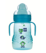 Mam Trainer Bottle with Handles 8oz Blue