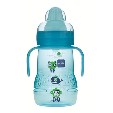 Mam Trainer Bottle with Handles 8oz Blue