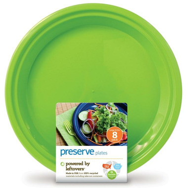 Preserve Large On The Go Plates Apple Green