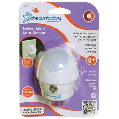 Dreambaby Swivel Auto-Sensor LED Night Light
