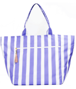Logan and Lenora Waterproof Carryall Oversized Cabana Stripe