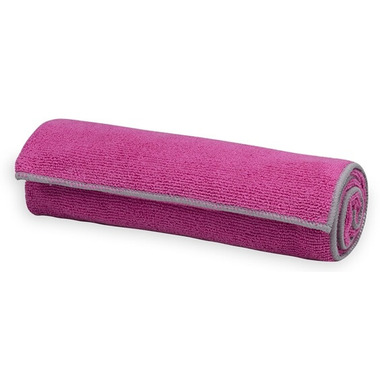 Gaiam Thirsty Yoga Hand Towel Pink/Grey