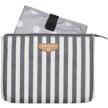 TWELVElittle Easy Diaper Pouch Grey Stripe