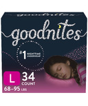Huggies GoodNites Youth Pants For Girls Giga Pack
