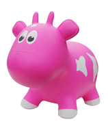 Farm Hoppers Inflatable Bouncing Cow Pink