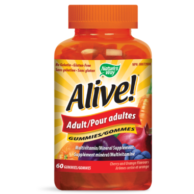 Nature\'s Way Alive! Adult Gummies MultiVitamin & Mineral Supplement