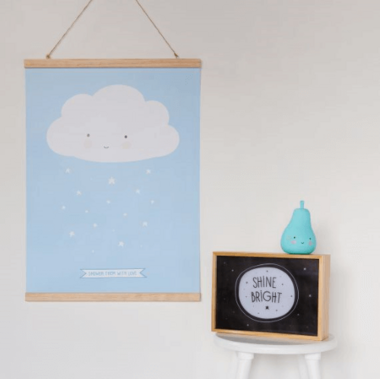 A Little Lovely Company Natural Wood Poster Hanger