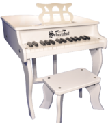 Schoenhut 30 Key Fancy Baby Grand Piano White