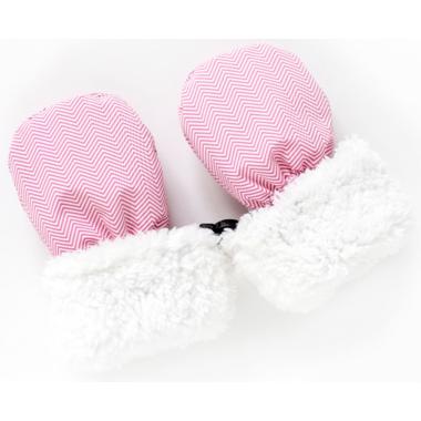 Juddlies Winter Mitts Herringbone Pink