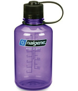 Nalgene 16 Ounce Narrow Mouth Water Bottle Purple with Black Cap