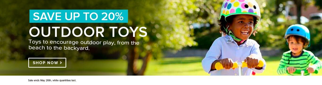 Save up to 20% off Outdoor Toy shop