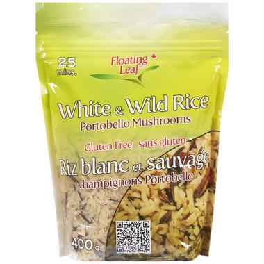 Floating Leaf White & Wild Rice with Portobello Mushroom