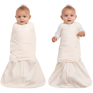 Halo Innovations SleepSack Swaddle Organic Cotton Cream Newborn