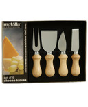 Prodyne Soft Polished Wood Handle Cheese Knives