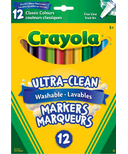 Crayola Ultra-Clean Washable Fine Line Markers Classic Colours