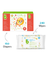 babyganics Size 6 Diaper + Fragrance Free Wipes Bundle
