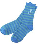 Little Blue House Women's Crew Socks - Anchor Stripe