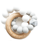 Loulou Lollipop Trinity Wood & Silicone Teether Grey