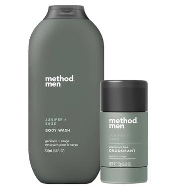 method Men Juniper + Sage Aluminum Free Deodorant and Body Wash Bundle