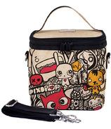 SoYoung X Pixopop Raw Linen Pishi and Friends Large Cooler Bag