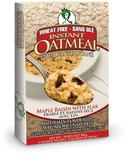 GlutenFreeda Maple Raisin with Flax Instant Oatmeal